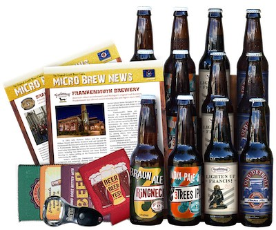 What comes in a shipment includes beers, newsletters and free gifts