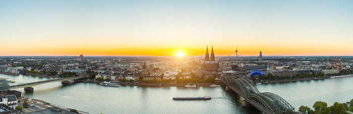 Cologne Germany river and city