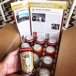 Photo of Craft Beer Club shipment with newsletters