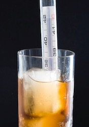 Thermometer in Beer Glass