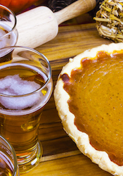 Pumpking beer and pie