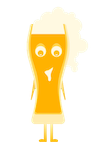Beer glass character