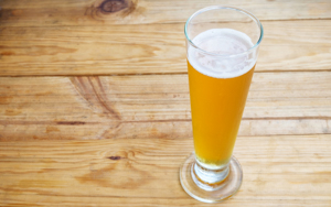Pilsner glass for beer