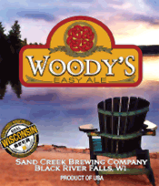Bottle of Sand Creek  Blond Ale Woody's Easy Ale