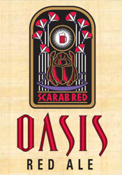 Bottle of Oasis Red Ale  American Amber / Red Ale Scarab Red