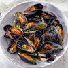 Beer Steamed Mussels with Bacon