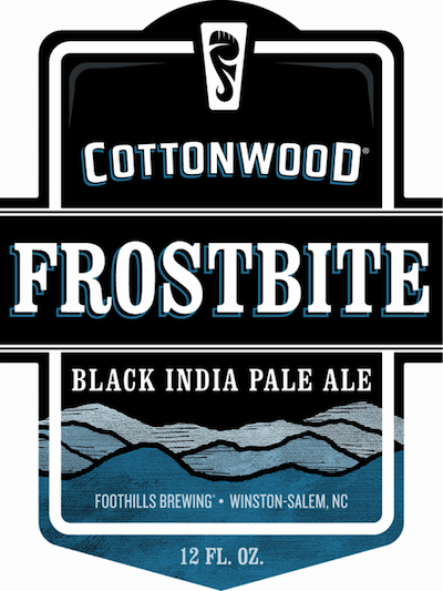 Bottle of Cottonwood  American Strong Ale Frostbite Black IPA