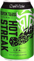 Bottle of Black Tooth  India Pale Ale (IPA) Hot Streak IPA