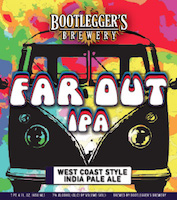 Bottle of Bootlegger's  India Pale Ale (IPA) Far Out IPA