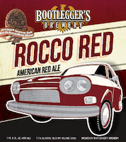 Bottle of Bootlegger's  Red Ale Rocco Red