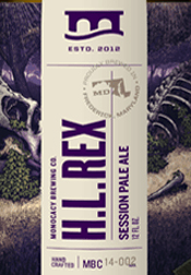 Bottle of Brewer's Alley  American Pale Ale (APA) H.L. REX