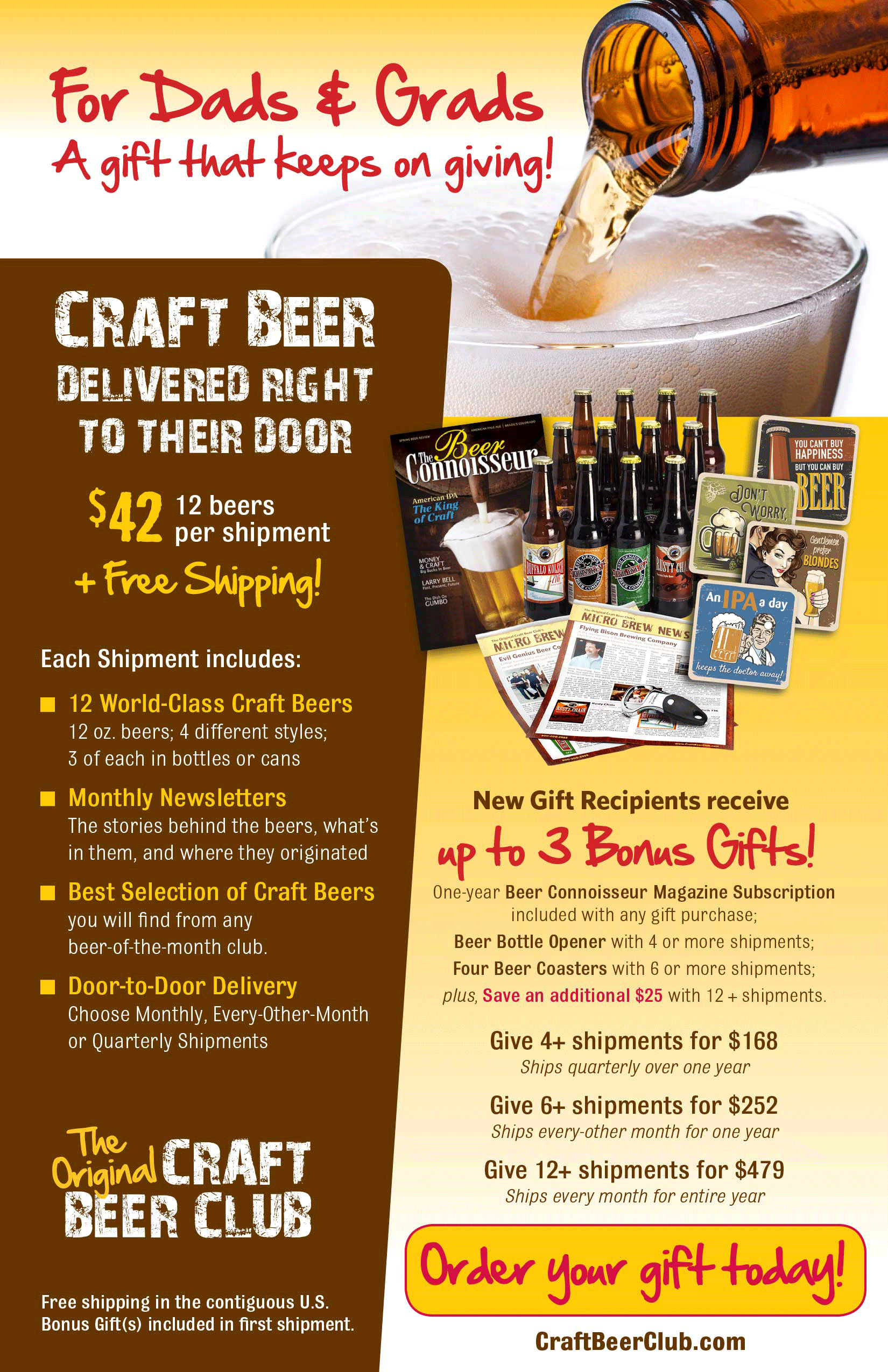 Beer of the month club craft beer gifts for dads and grads for Best craft beer of the month club