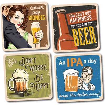 Bottle of Coaster Collection    Free with orders of 6+ Shipments - $5.95 Value