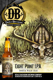 Bottle of Devil's Backbone  India Pale Ale (IPA) Eight Point IPA
