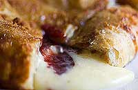 Baked Brie Cheese with Raspberry Jam