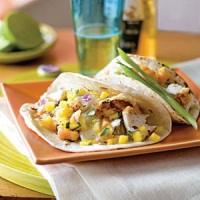 Smoked Fish Tacos with Caribbean Salsa