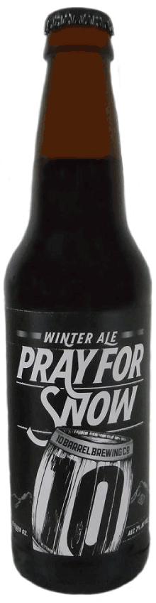 Bottle of 10 Barrel  American Strong Ale Pray for Snow Winter Ale
