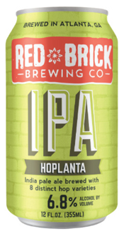Bottle of Red Brick  American India Pale Ale Hoplanta IPA