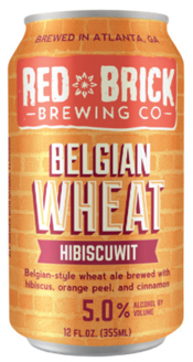 Bottle of Red Brick  Belgian Witbier Belgian Wheat Hibiscuwit