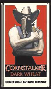 Bottle of Thunderhead   American Dark Wheat Ale Cornstalker