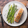Baked Mustard-Crusted Salmon with Asparagus