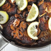 Sautéed Garlic Lemon Pork Chops with Mushrooms & Onion