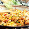 Creole Fried Corn with Shrimp